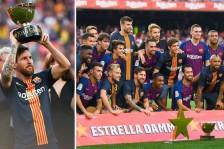 تخطى برشلونة حامل لقب الدوري الإسباني لكرة القدم ضيفه بوكا جونيورز الأرجنتيني بسهولة 3-صفر