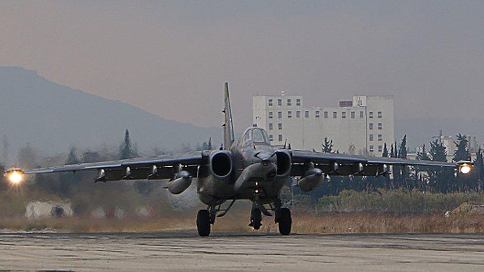 تقدم المقاتلات الروسية دعما لقوات الحكومة السورية