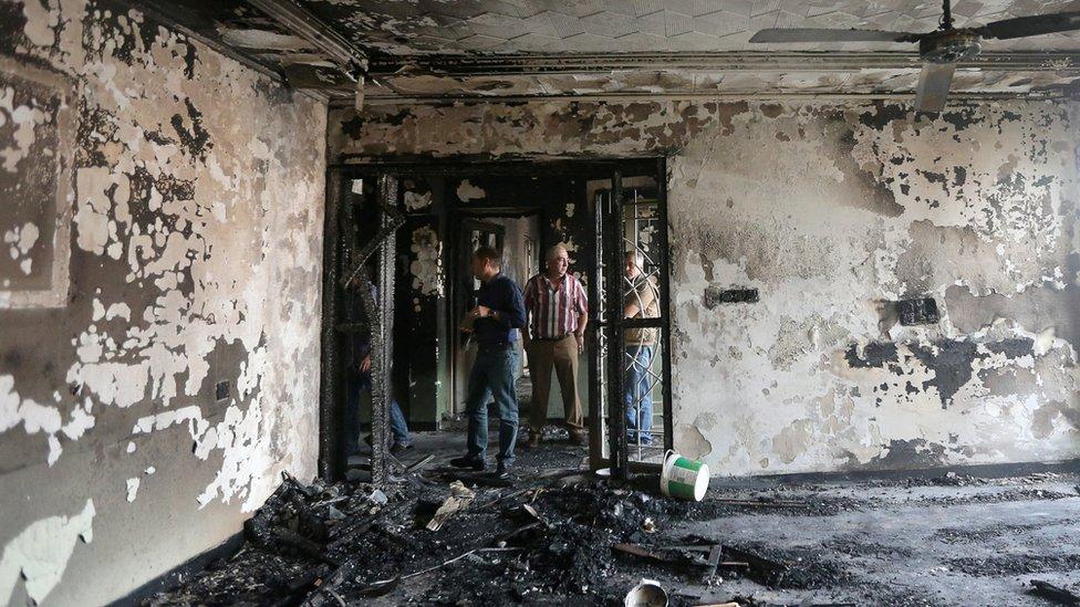 أحد مقار الحزب الوطني الكردستاني تعرض للحرق ليلا