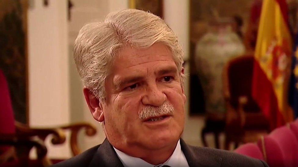 وزير الخارجية الأسباني يتحدث إلى بي بي سي