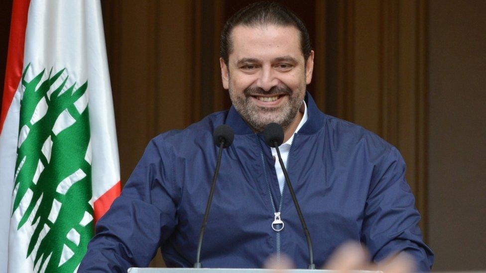 الحريري يتحدث في بيروت يوم 22 نوفمبر/تشرين الثاني