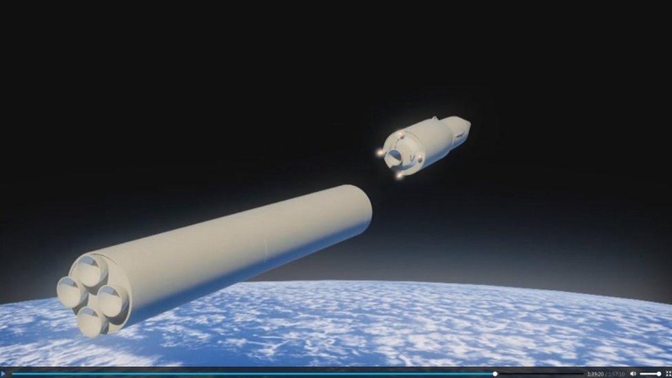في المرحلة الاخيرة من التحليق يتوجه الرأس الحربي الى الهدف كطائرة شراعية بفعل الجاذبية