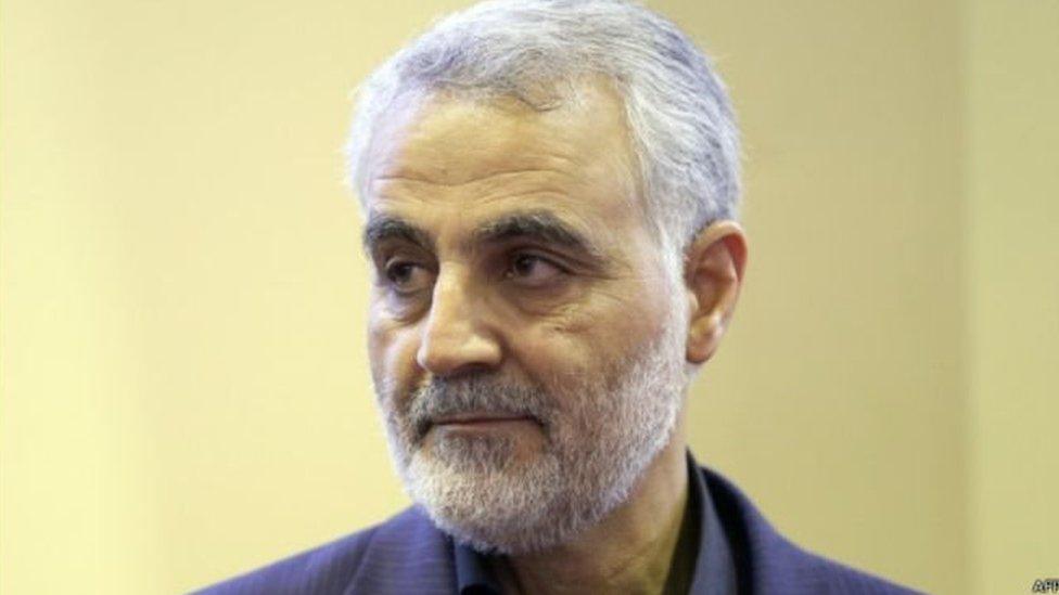 لا يمر وقت طويل لمشاهد التلفزيون الإيراني وإلا ويرى صورة الجنرال قاسم سليماني