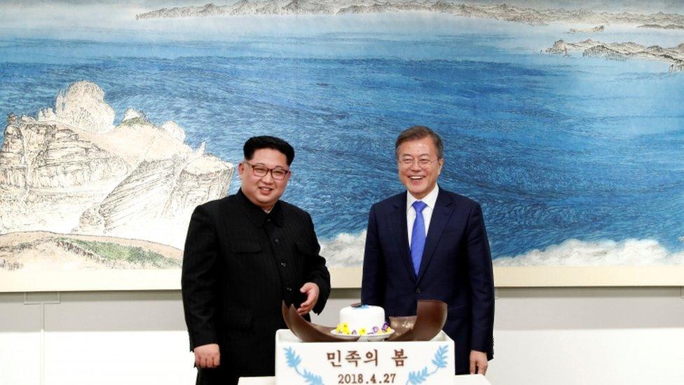 زعيما الكوريتين بعد لقائهما