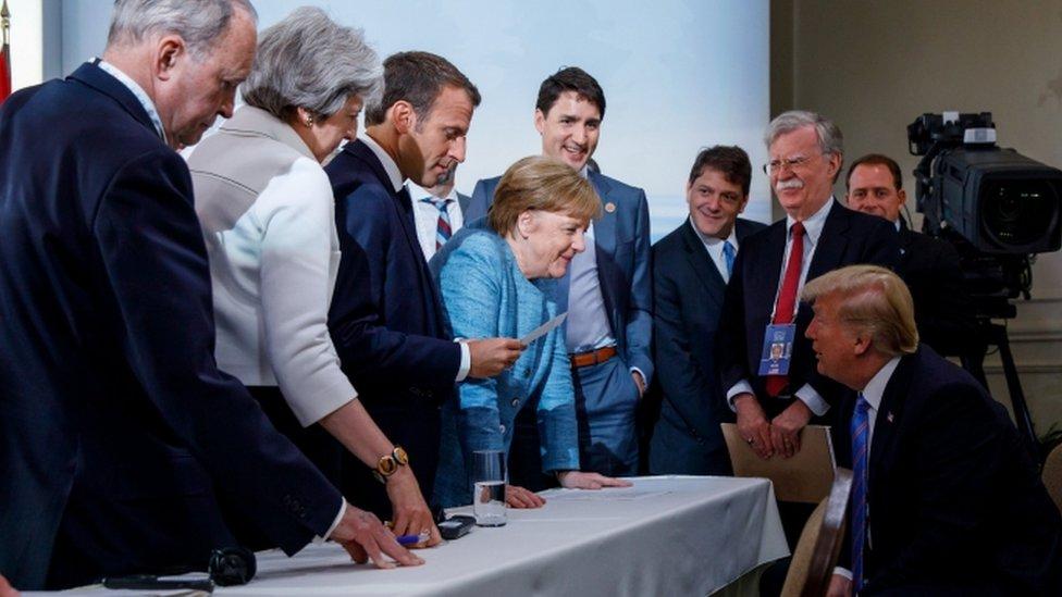 كان يهدف البيان الختامي لقمة مجموعة السبع إلى تجاوز الخلافات العميقة، لاسيما فيما يتعلق بالتجارة