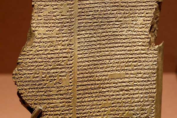 إحدى مخطوطات ملحمة غلغامش