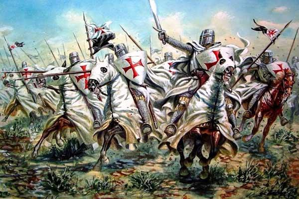 لوحة تجسد الحملات الصليبية