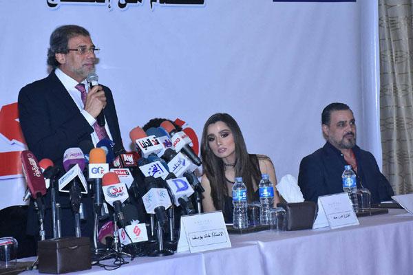 خالد يوسف يتحدث خلال مؤتمر عن الفيلم