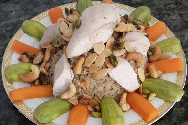 طبق الأرز بالدجاج