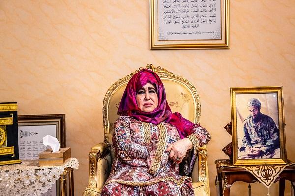 عالية غانم في منزلها بجدة في صورة مصدرها