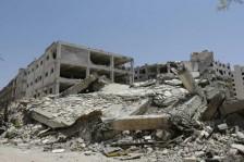 دمار خلفته الحرب السورية المستمرة منذ 7 سنوات