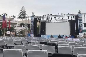 الاستعداد لمهرجان سينما الشاطئ بالهرهورة