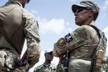 عضو في وحدة حماية رئيس جمهورية افريقيا الوسطى فوستان تواديرا المكونة من شركة أمنية خاصة من
