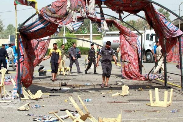 آخر التفجيرات في بغداد لعزاء حسيني لمناسبة عاشوراء