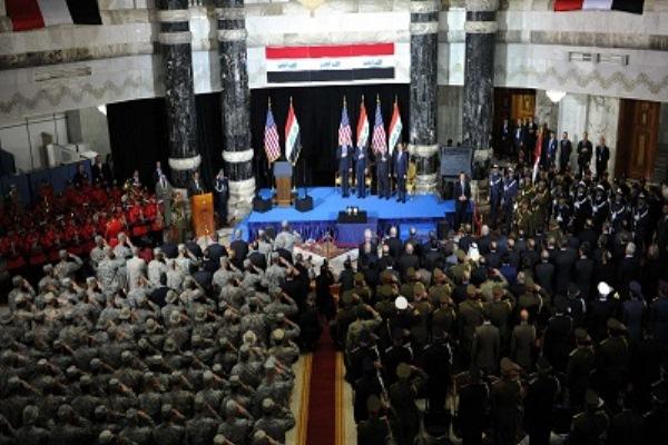 الاحتفال الرسمي بانسحاب القوات الاميركية من العراق أواخر عام 2011