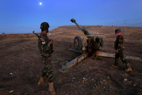 مقاتلون اكراد