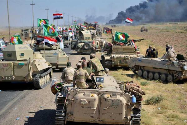 القوات العراقية تتقدم نحو وسط كركوك