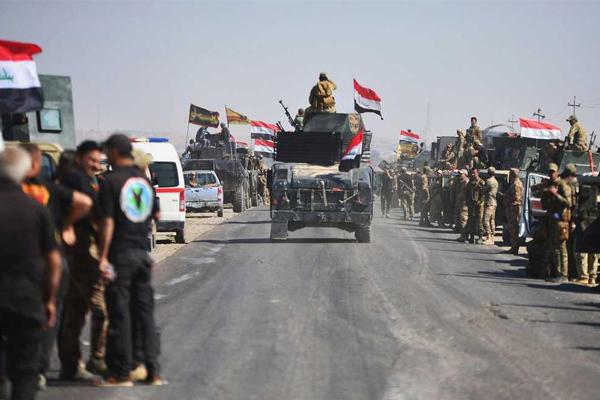قوات عراقية ضخمة تدخل كركوك