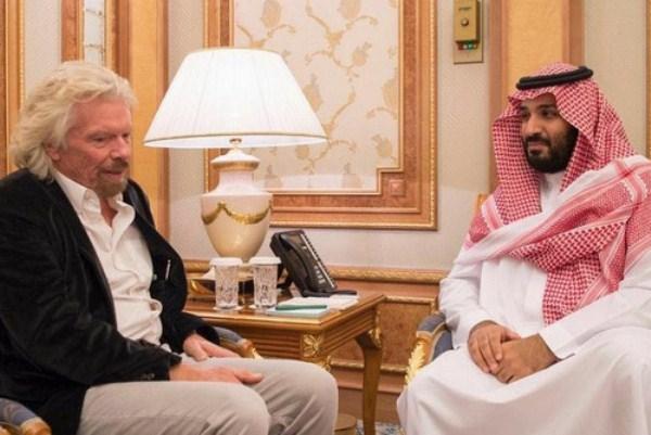 الأمير محمد بن سلمان وريتشارد برانسون