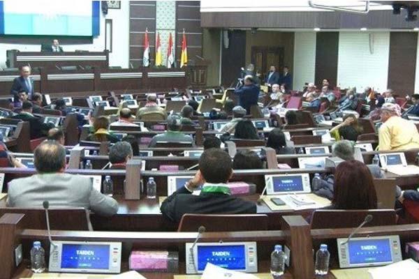 برلمان كردستان مجتمعا في اربيل