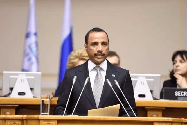 مرزوق الغانم في مؤتمر البرلمانيين الدولي في روسيا