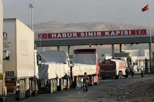 معبر الخابور الحدودي التركي العراقي