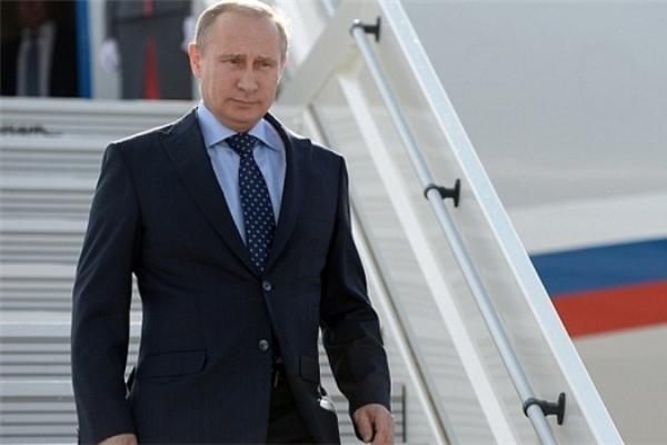 بوتين لدى وصوله إلى طهران
