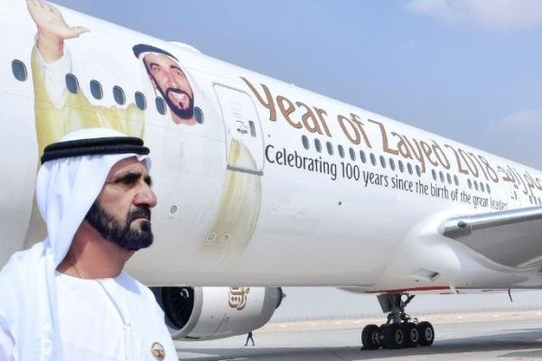 الشيخ محمد بن راشد في معرض دبي للطيران