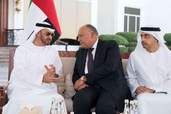 محمد بن زايد يبحث مع شكري المستجدات في المنطقة