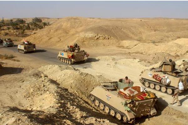 قوات عراقية في صحراء الانبار