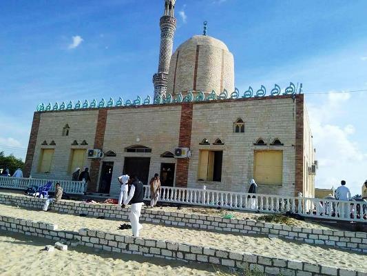 مسجد الروضة الذي شهد مذبحة يوم الجمعة في سيناء