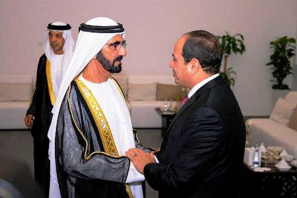 لقاء سابق بين الشيخ محمد بن راشد والرئيس المصري