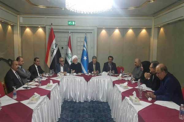 الهيئة التنسيقية العليا لتركمان العراق خلال اجتماع لبحث أوضاع كركوك