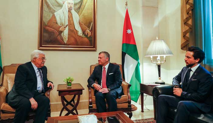 محادثات عبدالله الثاني وعباس بحضور ولي عهد الأردن