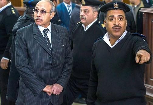 حبيب العادلي أثناء احدى جلسات محاكمته