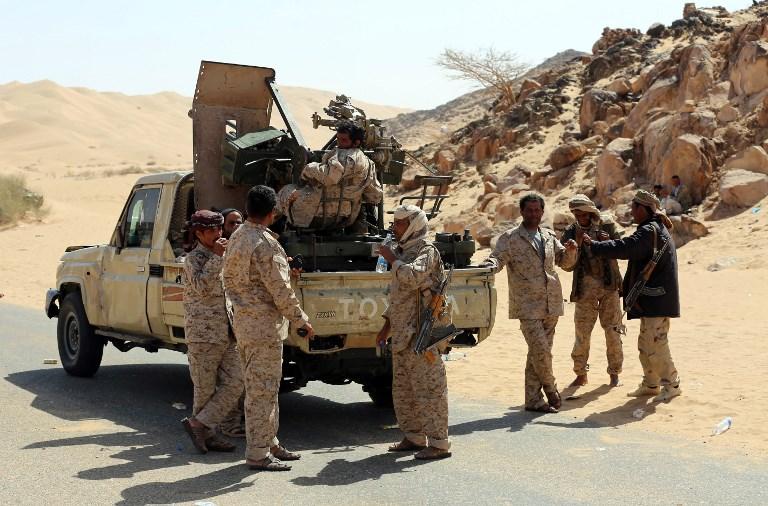 قوات الحكومة اليمنية بعد تحرير مديرية بيحان