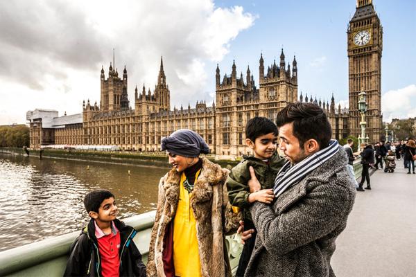 عائلة مسلمة في لندن ـ هيئة السياحة البريطانية
