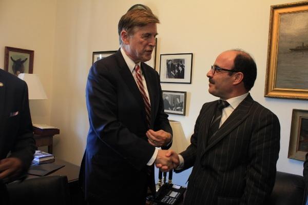 إلياس العماري مع دونالد بيير عضو الكونغرس الأميركي