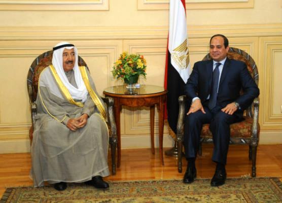 لقاء قمة سابق بين الرئيس المصري وأمير الكويت