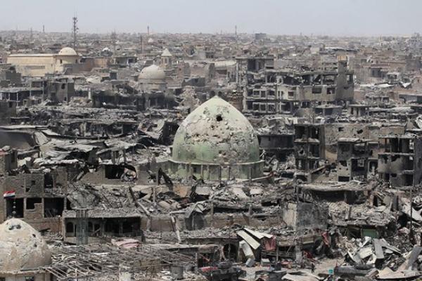 دمار المعارك مع داعش في الموصل
