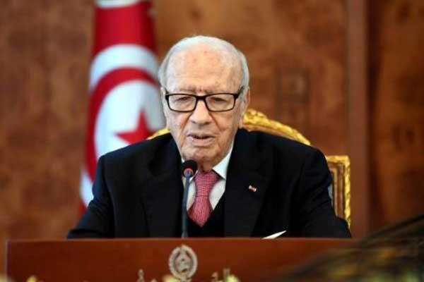 الرئيس التونسي الباجي قائد السبسي يوم السبت 13 يناير 2018