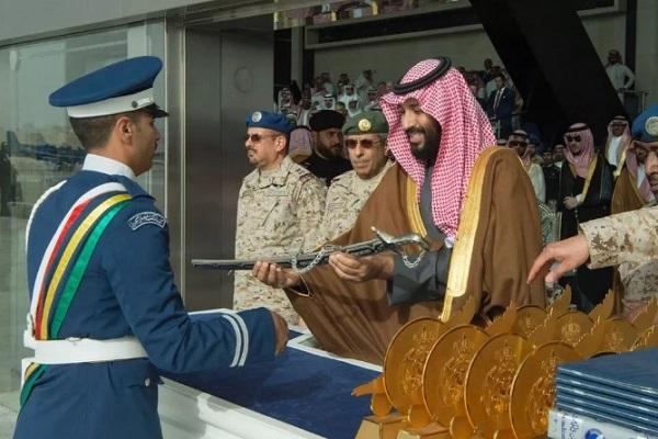 الأمير محمد بن سلمان خلال تكريم الطلبة المتفوقين