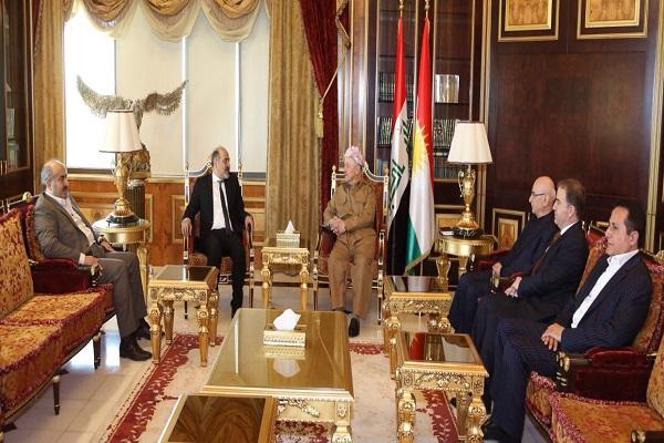 ملفا سوريا والعراق في لقاء البارزاني - الجربا
