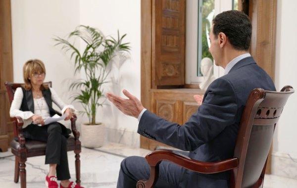 الأسد في مقابلة مع صحيفة ميل أون صنداي - صورة لـ(سانا)