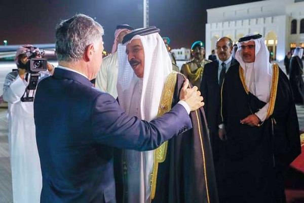 الملك حمدبن عيسى آل خليفي يستقبل الملك عبد الله الثاني