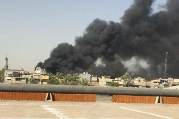 صورة للحريق نشرت على وسائل التواصل الاجتماعي