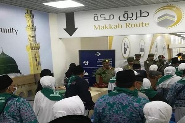وصول حجاج إندونسيا عبر مبادرة طريق مكة