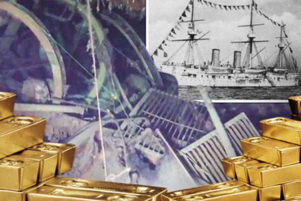 السفينة الحربية ديمتري دونسكوي اكتُشفت قبالة جزيرة اولونغو