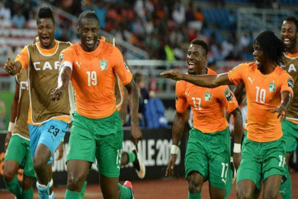 فرحة سابقة للاعبي ساحل العاج