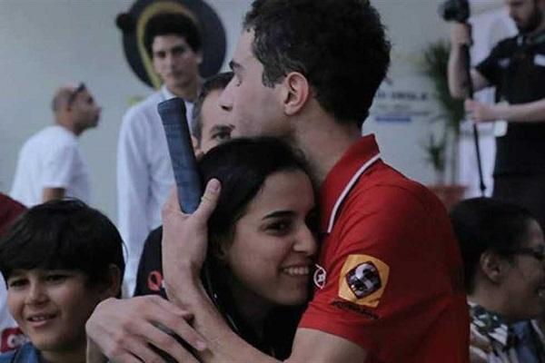 زوجان مصريان يحققان سابقة في السكواش